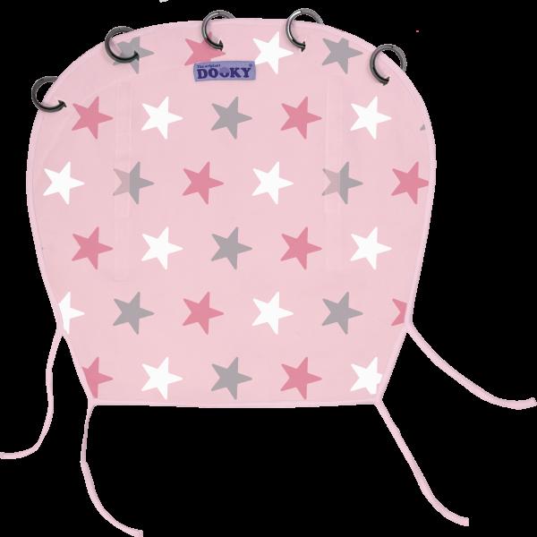 Abdeckung-Kinderwagen-Autositz-rosa-Sterne-01